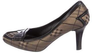 Burberry Beat Check Canvas Pumps
