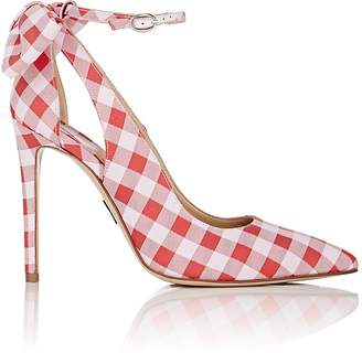 Paul Andrew Women's Fiona Gingham Ankle-Strap Pumps
