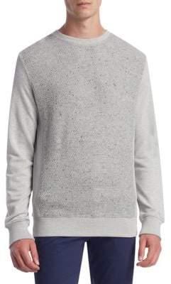 Madison Supply Mix Media Cotton Sweater