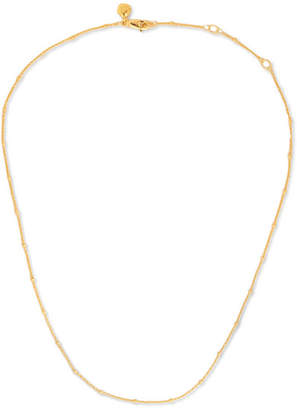 "Monica Vinader Fine Beaded 16-18"" Gold Vermeil Chain - one size"
