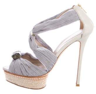 Le Silla Satin Embellished Sandals