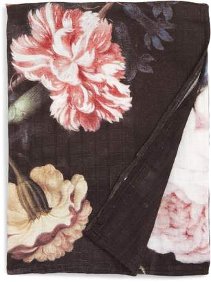 Loulou Lollipop Toucan Floral Deluxe Muslin Swaddle Blanket