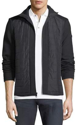 Michael Kors Quilted Zip Jacket with Neoprene Combo