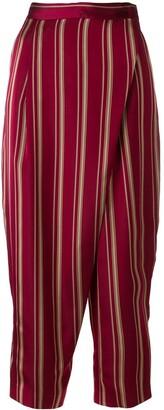 Antonio Marras foldover striped trousers