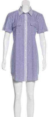 Equipment Striped Mini Shirt Dress