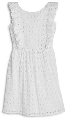 Us Angels Girls' Ruffled Eyelet Dress - Little Kid