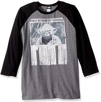 Star Wars Unisex-Adults Men's Words of Wisdom T-Shirt