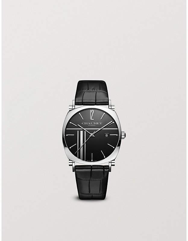 W11296-26L Dandy steel automatic leather strap watch