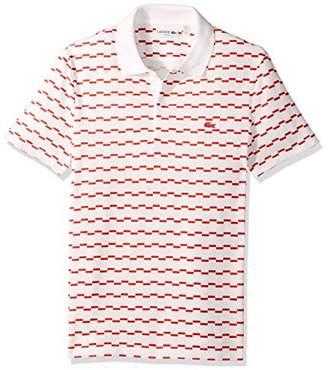 Lacoste Men's Short Sleeve Robert George Irrig Stripe Slim Polo