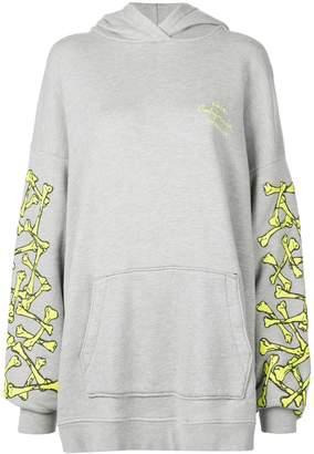 Amiri bones print hoodie dress