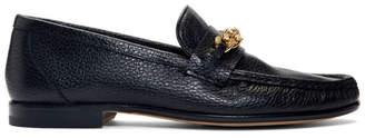 Versace Black Medusa Chain Loafers