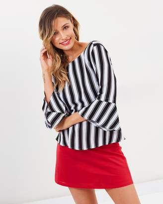 Atmos & Here Sarah Linen Mini Skirt