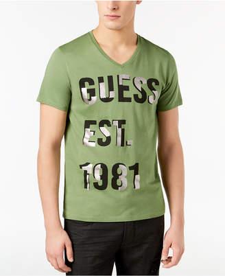 GUESS Men's Foil Graphic-Print T-Shirt