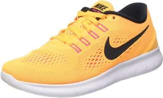 Nike Womens Free RN Running Sneakers Lightweight Casual Shoes 831509 (8 M US, /Pink Blast/Total Orange/Black)