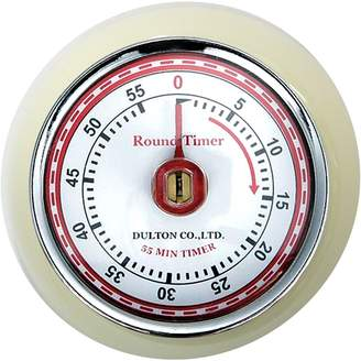 Dulton Round Magnet Kitchen Timer, Cream