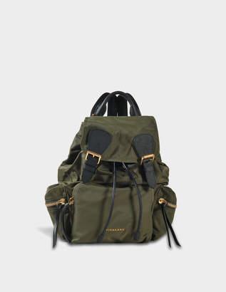 Burberry Rucksack Medium Backpack in Canvas Green Nylon