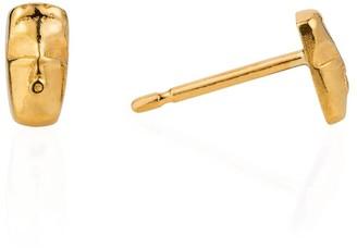 Lee Renee Tiny voodoo Damballah earrings gold vermeil