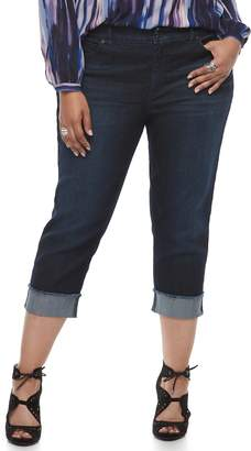 JLO by Jennifer Lopez Plus Size Cuffed Capri Jeans
