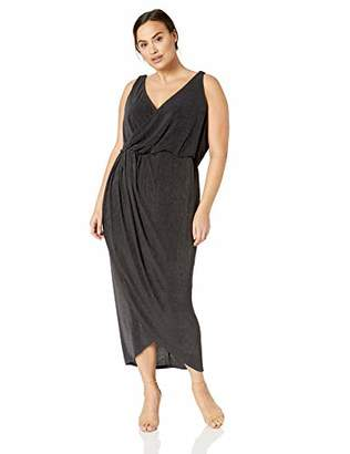 City Chic Women's Apparel Women's Plus Size Solid Drapey Maxi Dress,XXL
