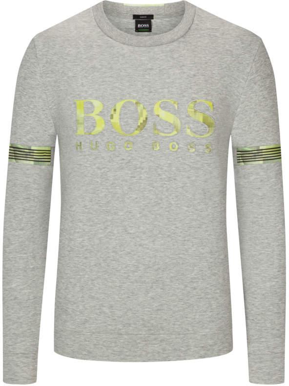 Sweatshirt mit Logo-Print und Mesh-Detai...