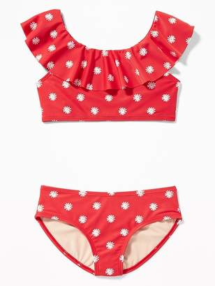 Old Navy Ruffled Off-the-Shoulder Bikini Swim Set for Girls