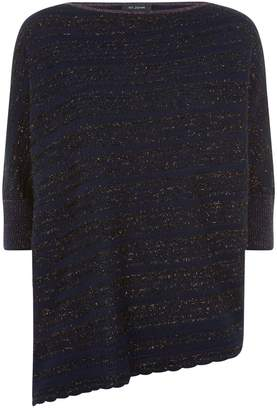 St. John Asymmetric Metallic Stripe Sweater