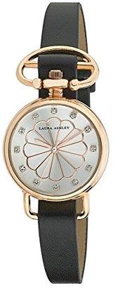 Laura Ashley Women's LA31001RG Analog Display Japanese Quartz Black Watch $39.99 thestylecure.com