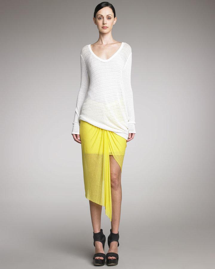Helmut Lang Twisted Sheer Skirt