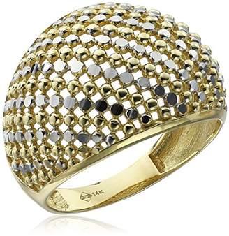 14k Diamond-Cut Dome Ring
