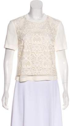 A.L.C. Embroidered Crochet Top