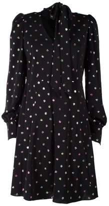 Marc Jacobs Glittered Polka-dot Chiffon Mini Dress