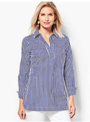 Talbots Poplin Tunic Top - Stripe