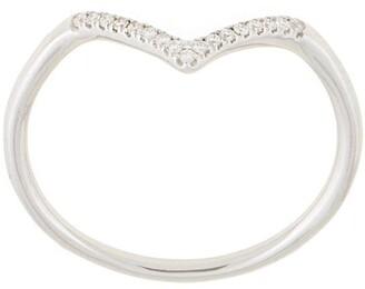 Natalie Marie 14kt white gold diamond point ring