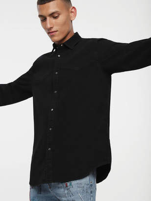 Diesel Denim Shirts 0BAQG - Black - L