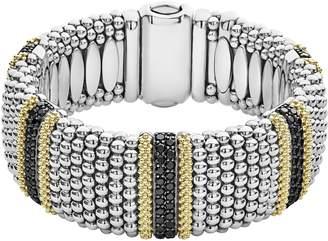 Lagos Diamond Lux Black Diamond Wide Bracelet