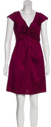 Calypso Short Sleeve Silk Mini Dress