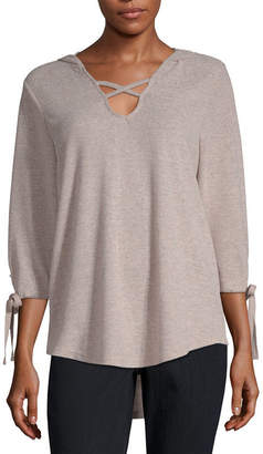 Liz Claiborne Long Sleeve French Terry Hoodie