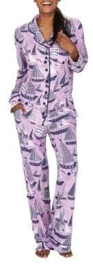 Munki Munki Sail Away Classic Pajama Set