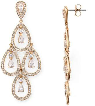Nadri Pear Shaped Chandelier Earrings