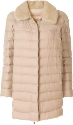 Moncler shearling padded coat