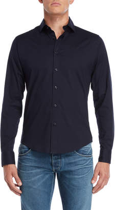 Armani Jeans Navy Custom Fit Shirt