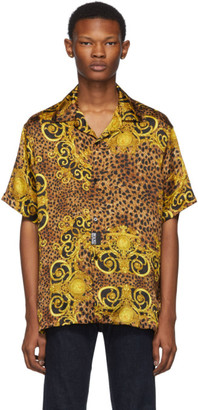 Versace Black and Gold Baroque Shirt