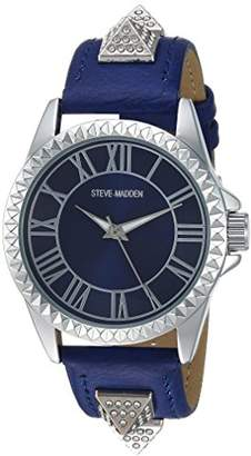 Steve Madden Men's SMW055-NB Analog Display Japanese Quartz Blue Watch Set