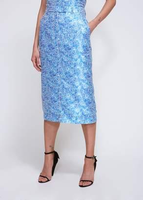 Calvin Klein Jacquard Mid Length Skirt