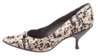 Prada Canvas Printed Pumps