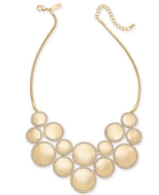 """INC International Concepts I.n.c. Gold-Tone Pave & Circle Statement Necklace, 18"""" + 3"""" extender"""