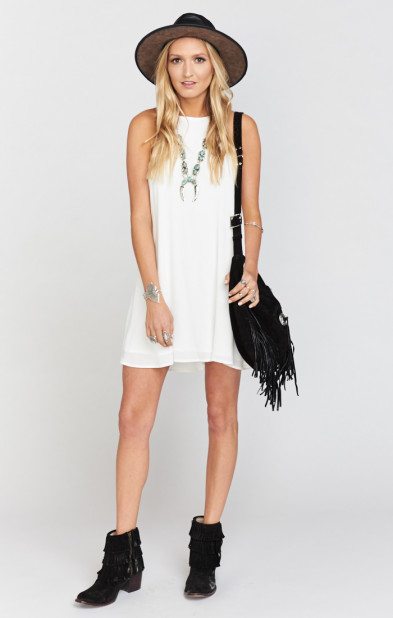 Katy Halter Dress ~ White Cloud