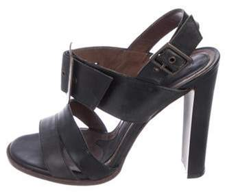 Marni Leather Slingback Sandals Black Leather Slingback Sandals