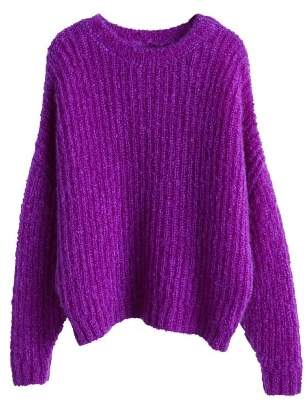 MANGO Ribbed mohair-blend sweater