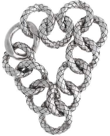 Bottega VenetaBottega Veneta Sterling Silver Link Bracelet